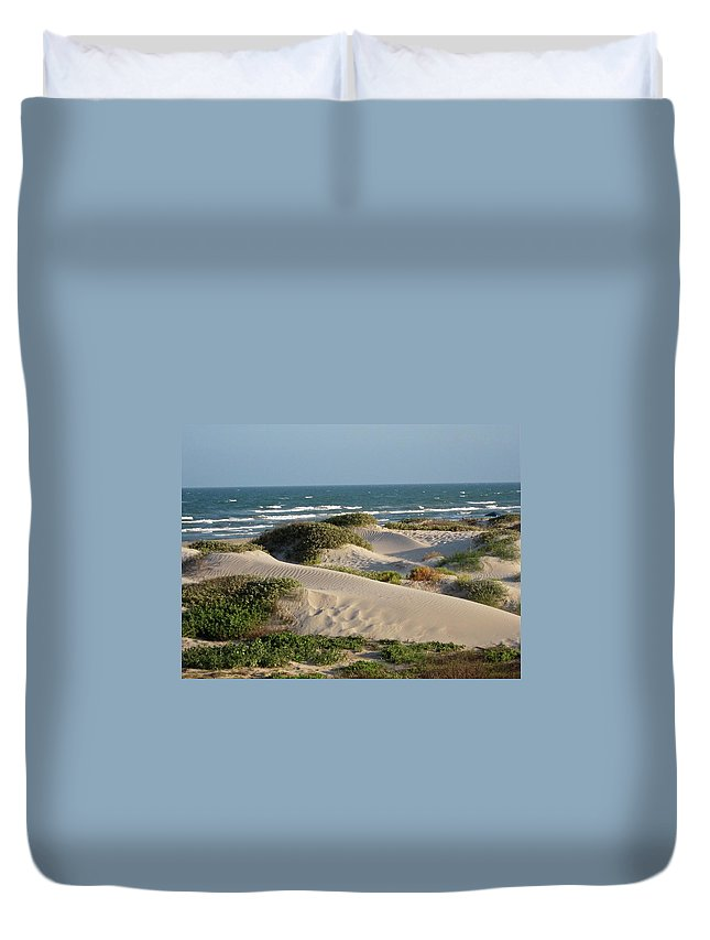 Tranquility Duvet Cover featuring the photograph Sand Dunes by Joe M. O'connell
