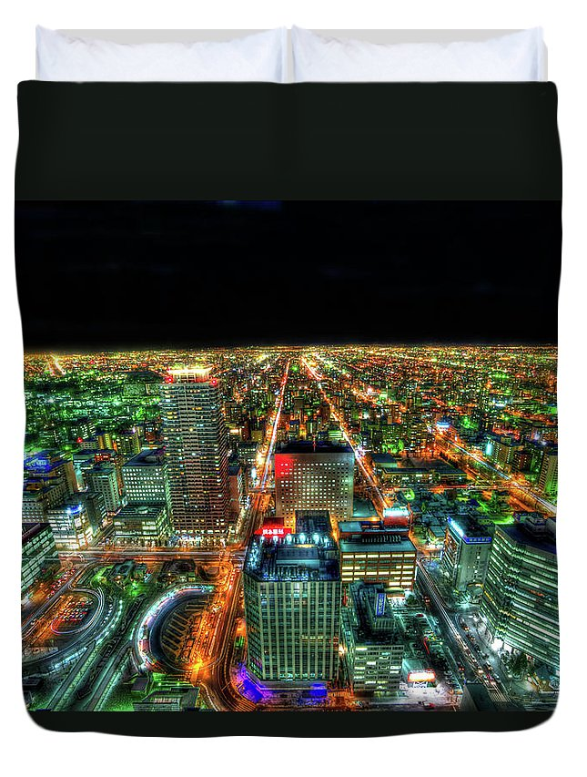 Outdoors Duvet Cover featuring the photograph Sapporo by Photography By Eydie Wong