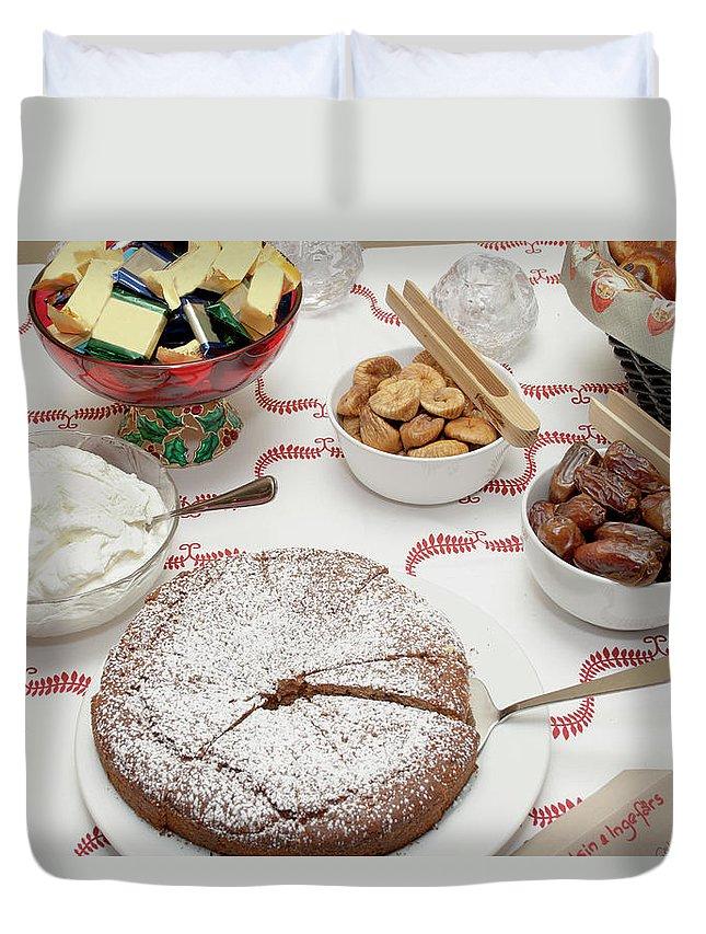Homemade Duvet Cover featuring the photograph Scandinavian Dessert Smorgasbord by Steve Skjold