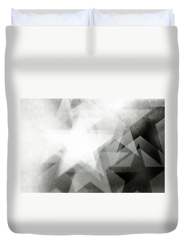 Art Duvet Cover featuring the photograph Scratchy Star Background by Loudredcreative