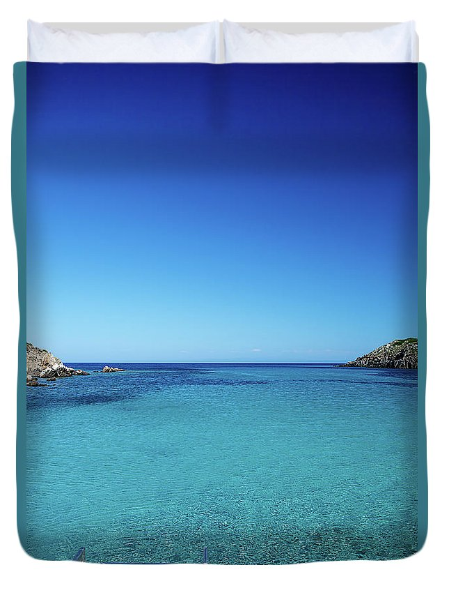 Scenics Duvet Cover featuring the photograph Sea by Cactusoup