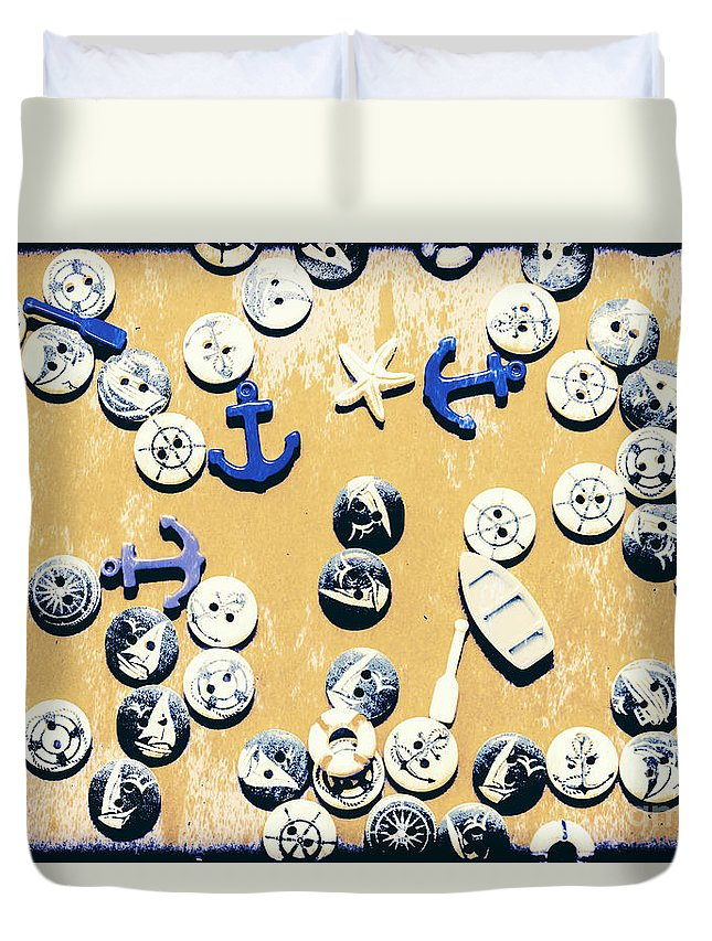 Nautical Duvet Cover featuring the photograph Seaboard Rust by Jorgo Photography - Wall Art Gallery