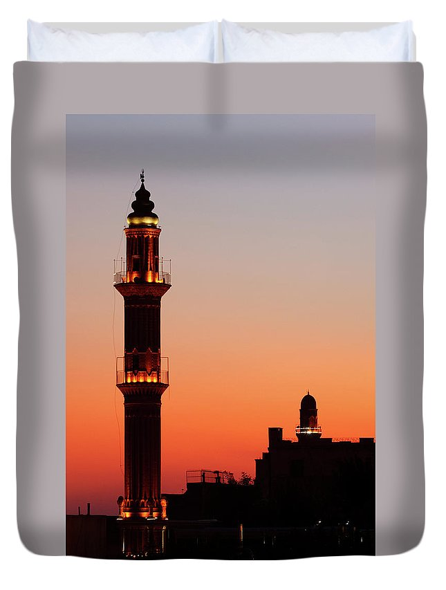 Built Structure Duvet Cover featuring the photograph Sehidiye Mosque Minaret by Wu Swee Ong
