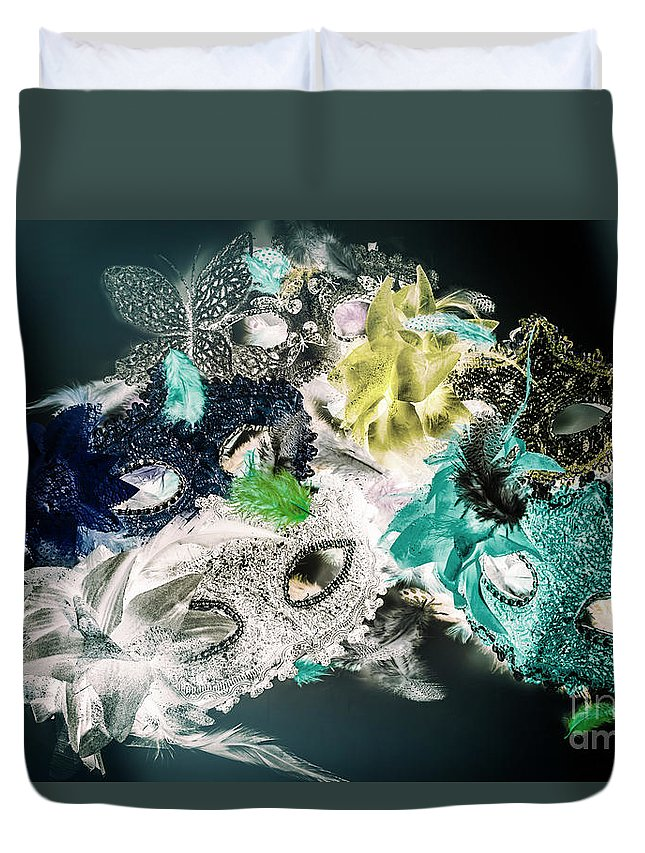Festival Duvet Cover featuring the photograph Setting The Drama by Jorgo Photography - Wall Art Gallery