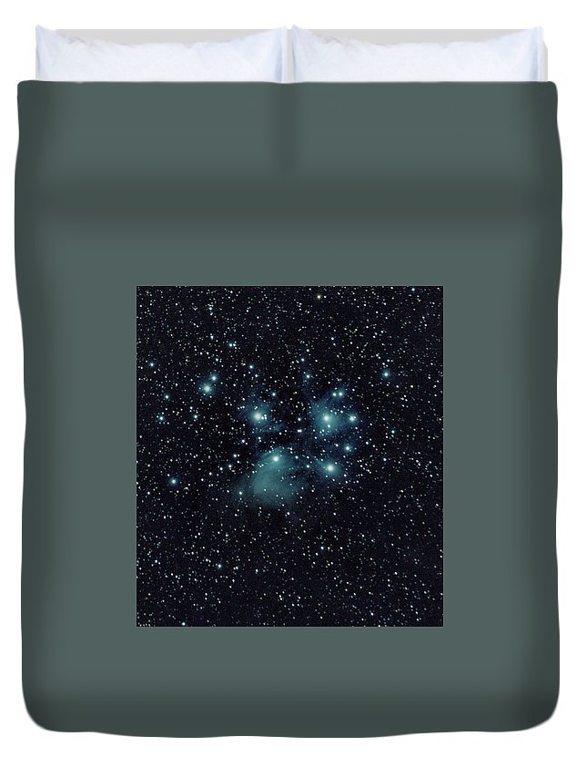 Space Duvet Cover featuring the photograph Seven sisters by Nunzio Mannino