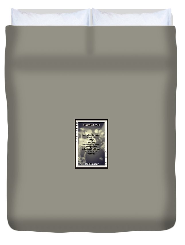 Bad Company Duvet Cover featuring the photograph Shooting Star by David Norman