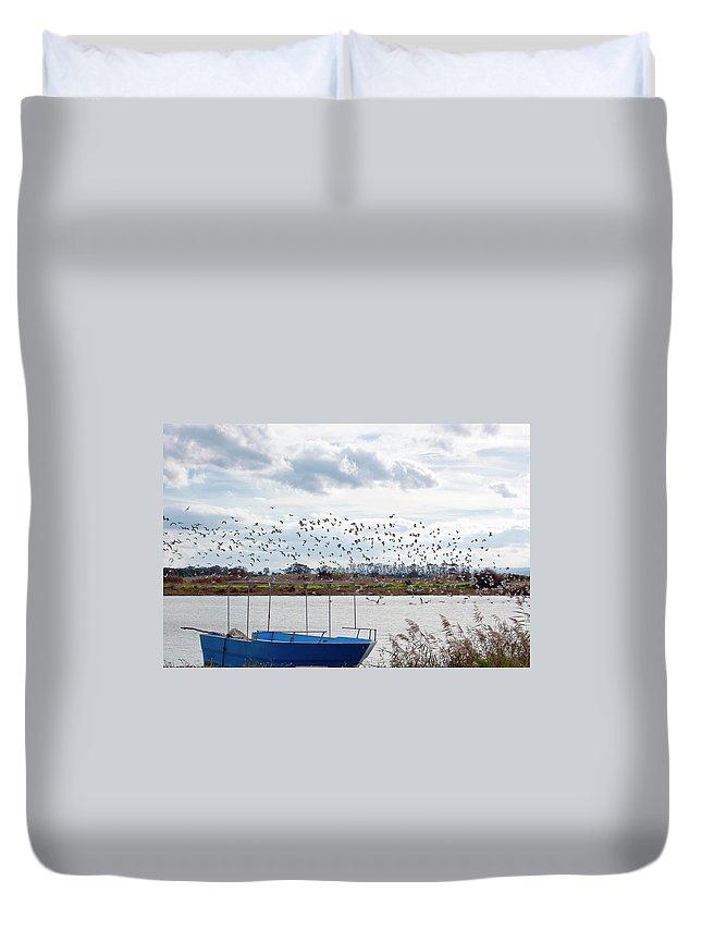Scenics Duvet Cover featuring the photograph Simeto River, Catania Sicily by Francesco Cantone
