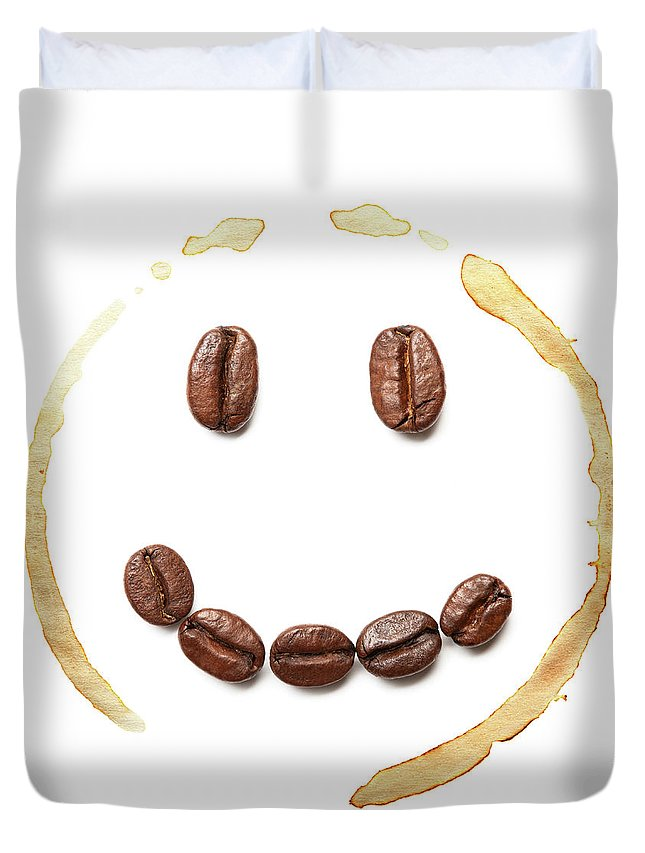 Spray Duvet Cover featuring the photograph Smile Coffee Beans by T kimura