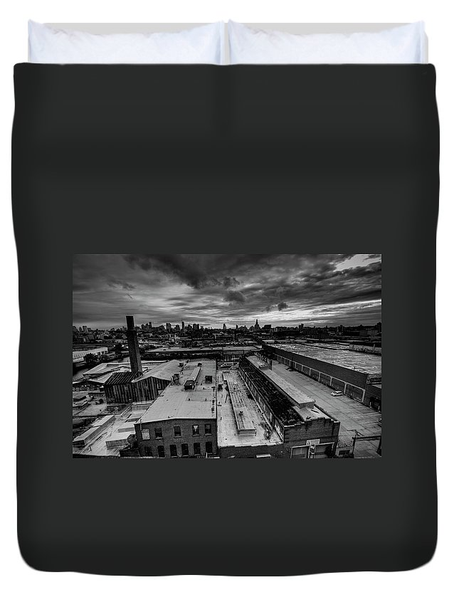 Industrial District Duvet Cover featuring the photograph Smith 9th Panorama by Digitalcursor / Miron Kiriliv