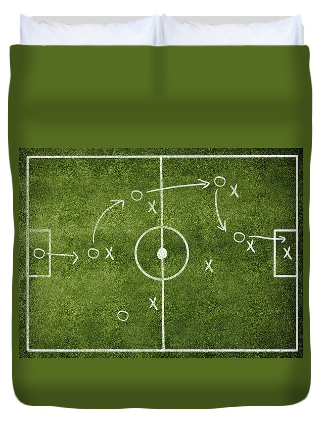 Rectangle Duvet Cover featuring the photograph Soccer Strategy by Goldmund