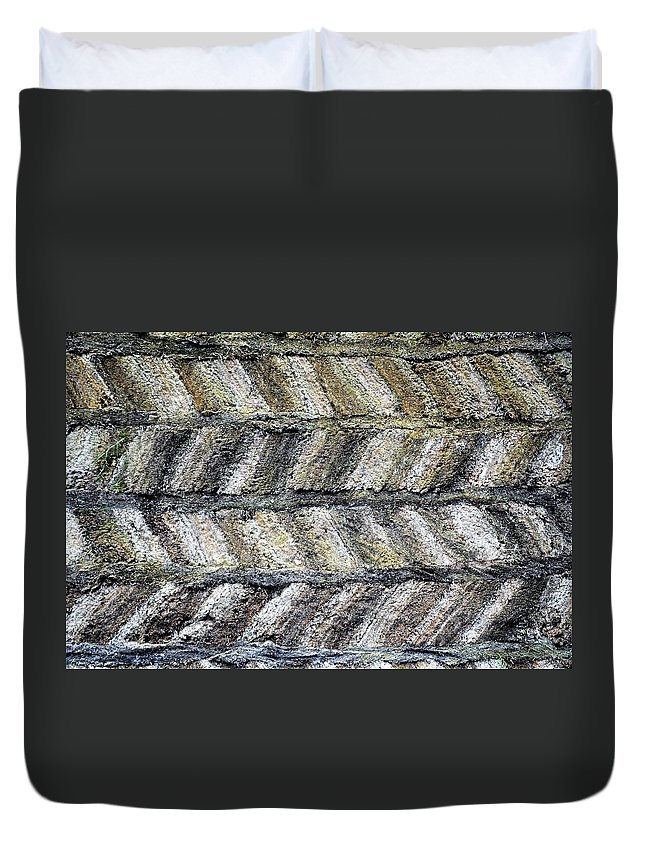 Pattern Duvet Cover featuring the photograph Sod House Pattern by Norman Burnham