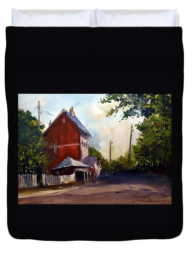 Sofala. New South Wales Duvet Cover featuring the painting Sofala Post Office, NSW Australia by Charles Rowland
