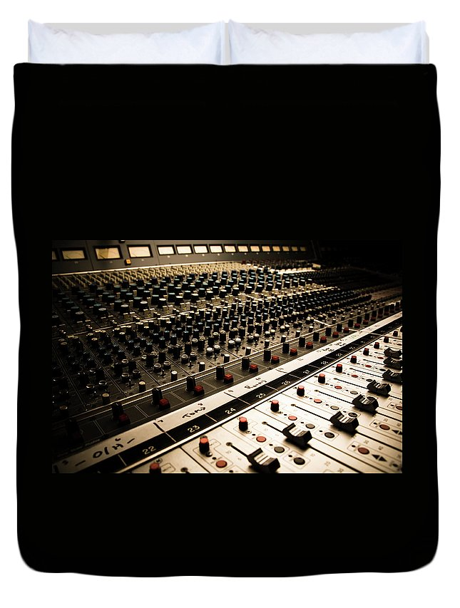 Shadow Duvet Cover featuring the photograph Sound Board In Color by Halbergman