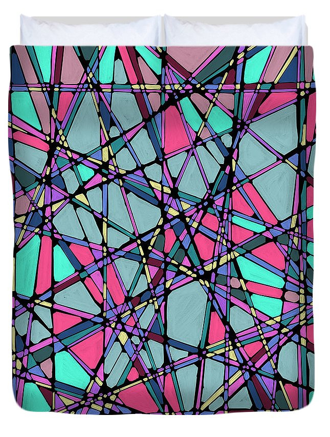 Nonobjective Duvet Cover featuring the digital art Spaces We Inhabit #010 by James Fryer
