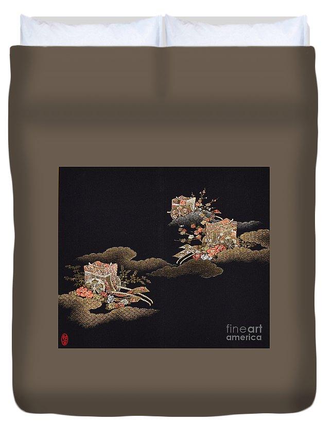 Duvet Cover featuring the digital art Spirit of Japan H29 by Miho Kanamori