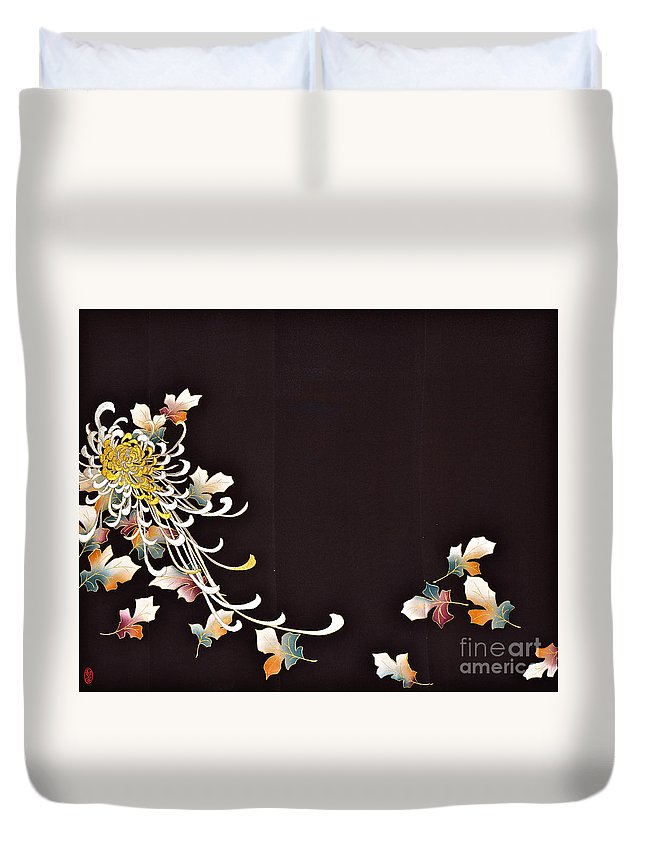 Duvet Cover featuring the digital art Spirit of Japan T35 by Miho Kanamori