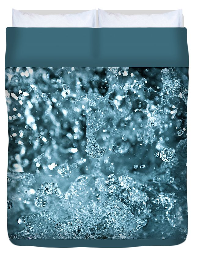 Spray Duvet Cover featuring the photograph Splash From Waterfall by Sindre Ellingsen