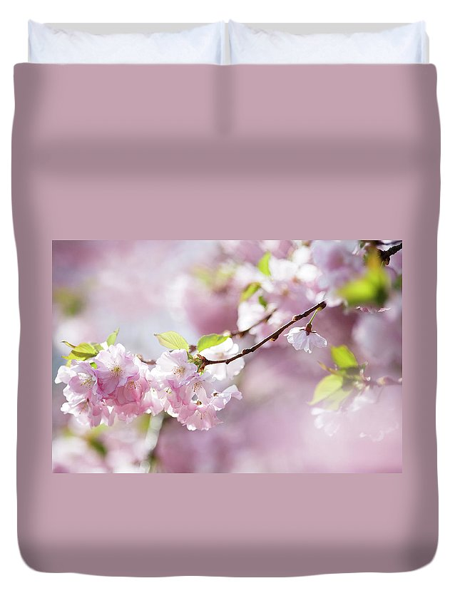 People Duvet Cover featuring the photograph Spring by Goldhafen