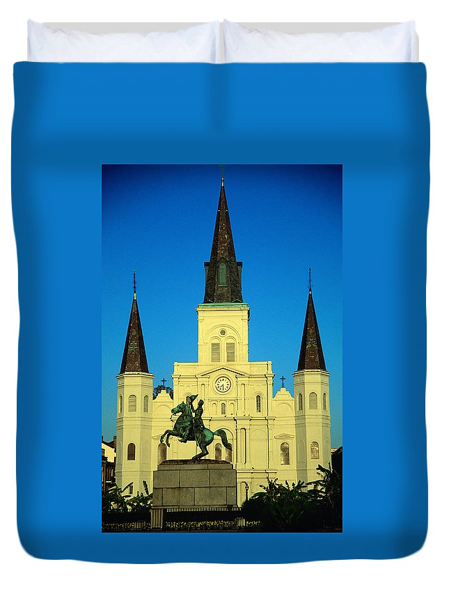 Art Duvet Cover featuring the photograph St Louis Cathedral, Built In 1794, At by Lonely Planet