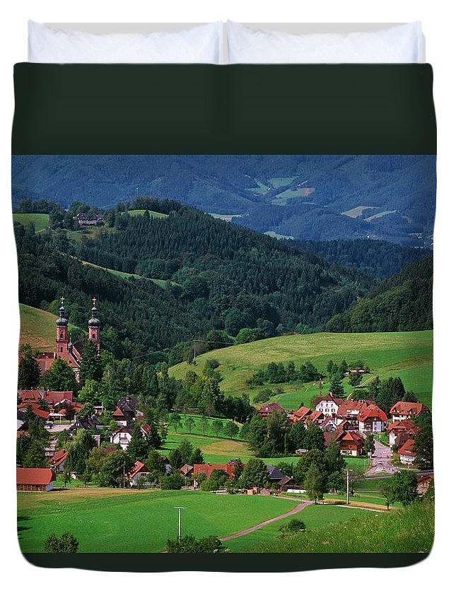 Architectural Feature Duvet Cover featuring the photograph St. Peters Abbey, Black Forest, Germany by Bilderbuch  / Design Pics