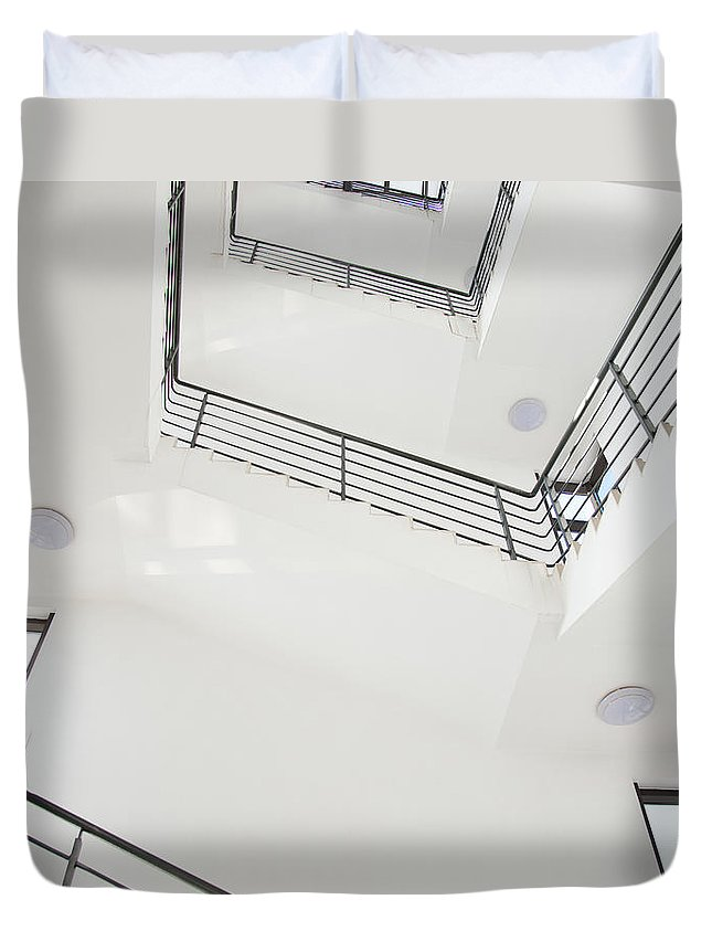Employment And Labor Duvet Cover featuring the photograph Stairway by Baona