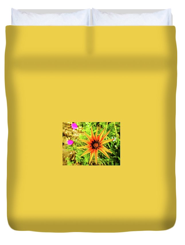 Nature Duvet Cover featuring the photograph Starflower by Matias Feucht