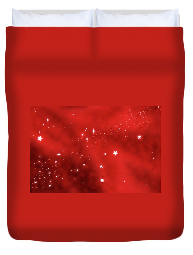 Holiday Duvet Cover featuring the photograph Stars Background by Enter89