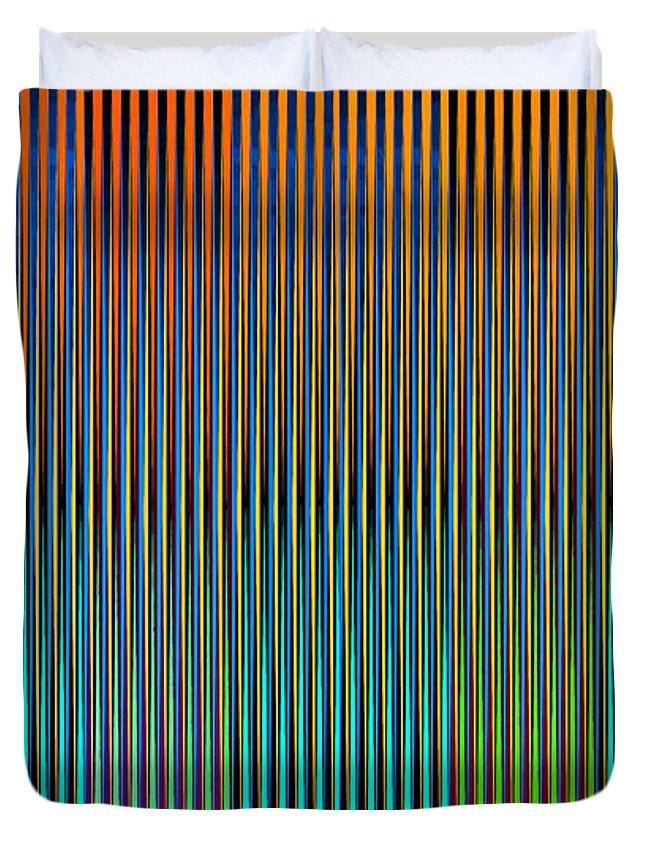 Cinetico Duvet Cover featuring the digital art Static Movement by Galeria Trompiz