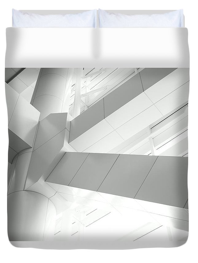 Toughness Duvet Cover featuring the photograph Structural Connection by Blackred