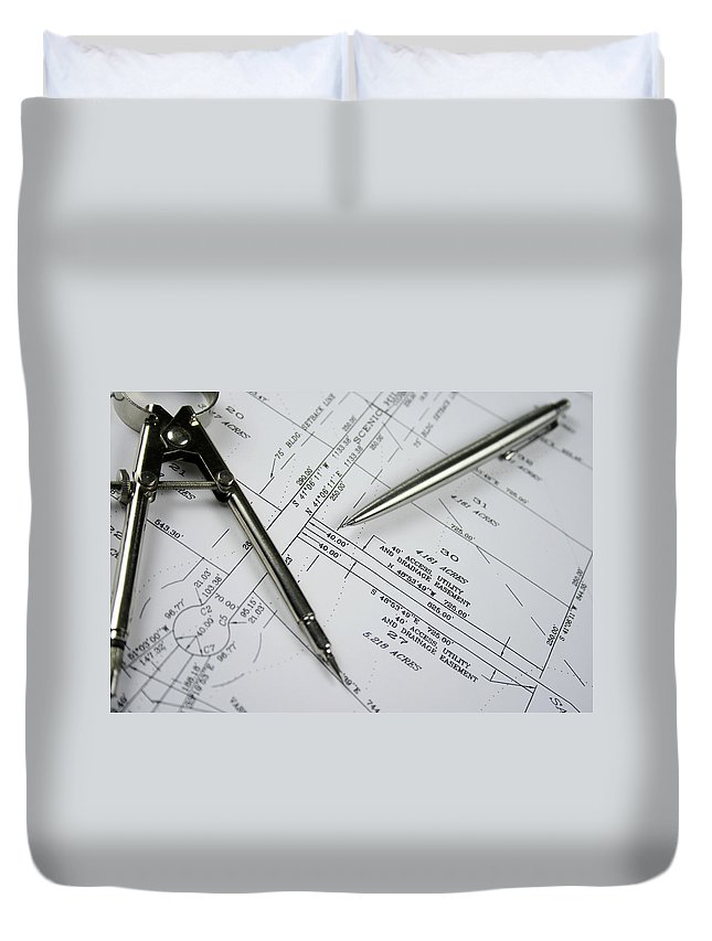 Plan Duvet Cover featuring the photograph Subdivision Development Planning by Lvsigns