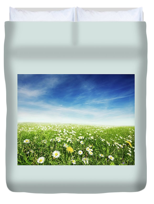 Scenics Duvet Cover featuring the photograph Summer Meadow by Sykkel