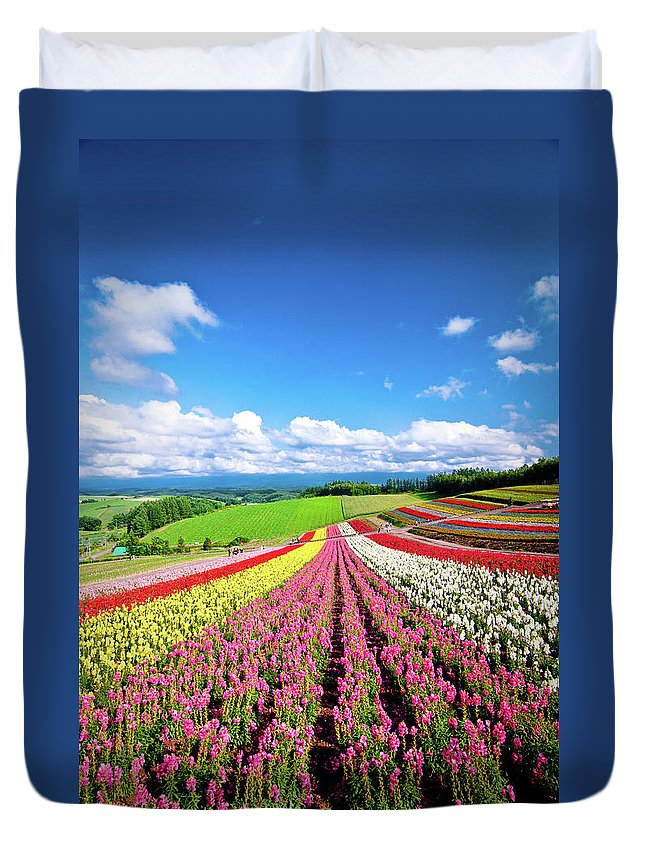 Tranquility Duvet Cover featuring the photograph Summer Of Furano by Grace's Photo