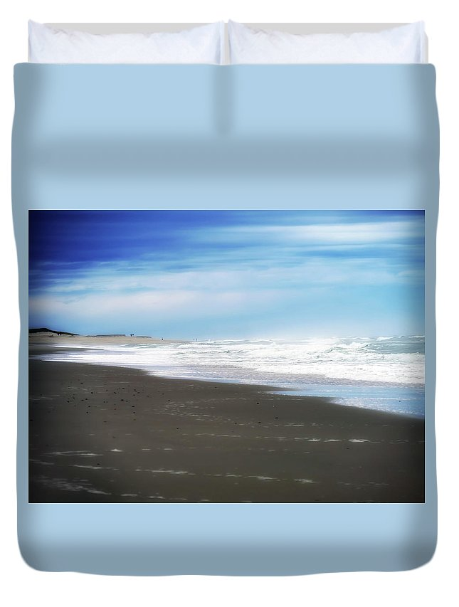 Duvet Cover featuring the digital art Summer On Cape Cod Xiv by Tina Baxter