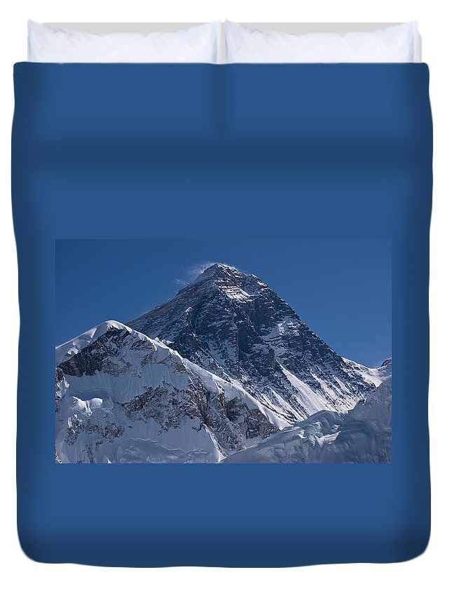 Scenics Duvet Cover featuring the photograph Summit Of Mt Everest8850m Great Details by Diamirstudio