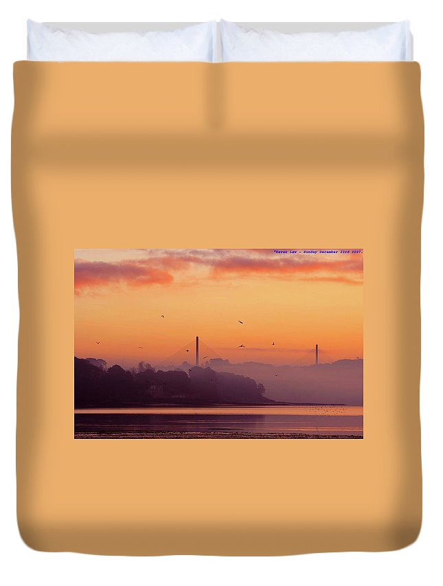 Scenics Duvet Cover featuring the photograph Sunrise by All Images Taken By Keven Law Of London, England.