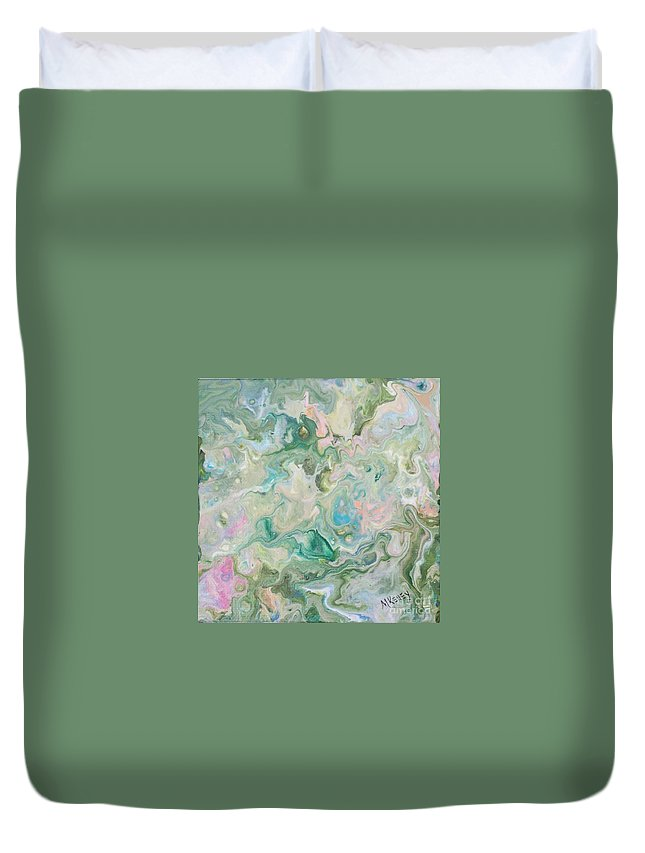 Duvet Cover featuring the painting Sunrise In The Garden by Marsha McAlexander