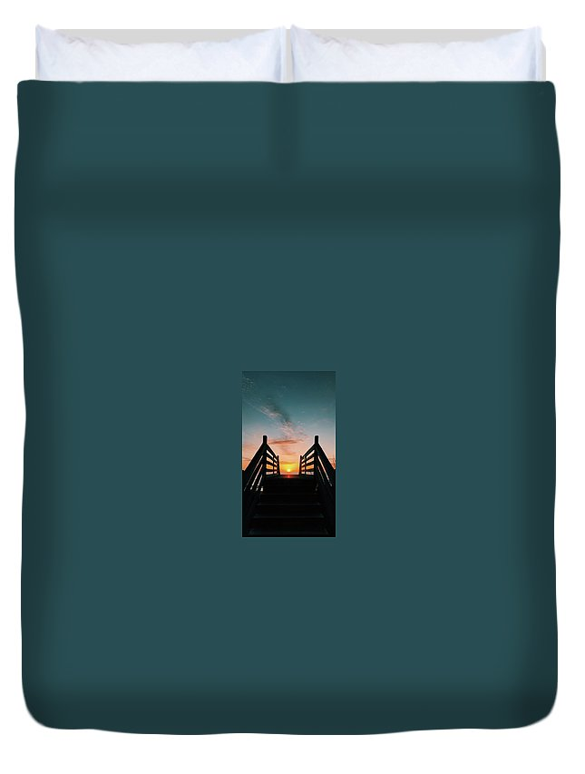 Sunset Duvet Cover featuring the photograph Sunset Magic by Jaylee Coates