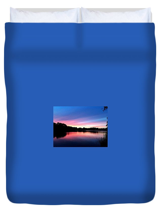 Duvet Cover featuring the photograph Sunset by Zach Meyer