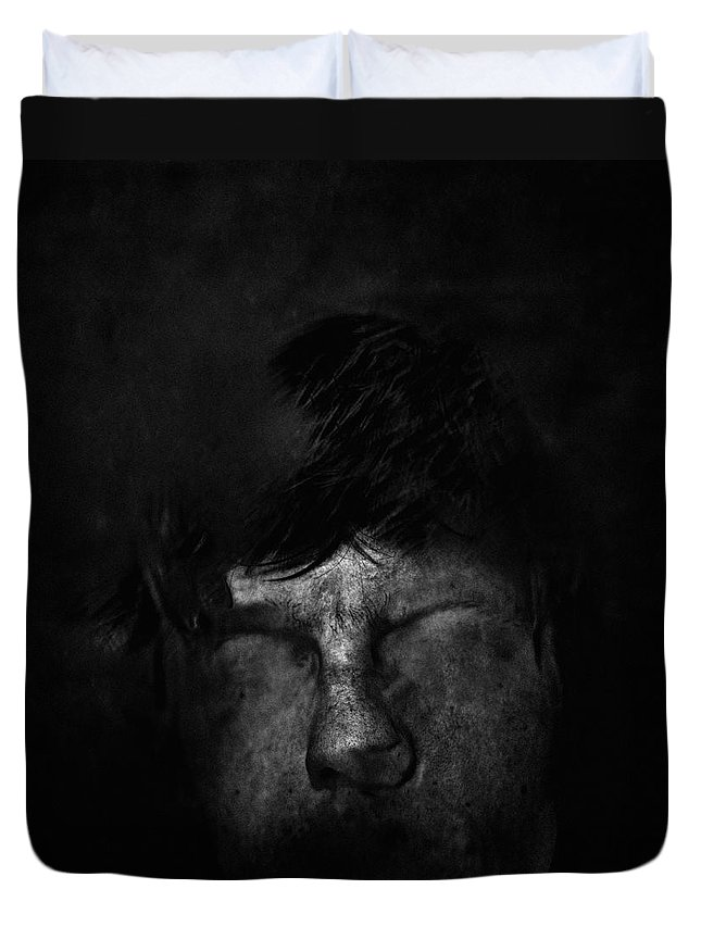 People Duvet Cover featuring the photograph Sweden, Stockholm, Distorted Face by Win-initiative