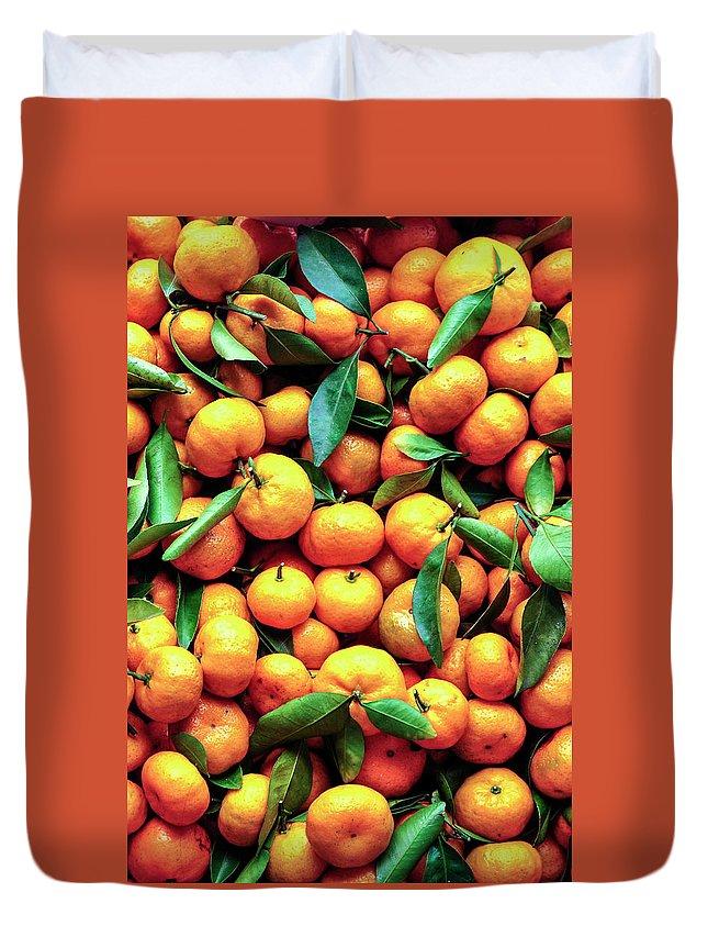 Orange Duvet Cover featuring the photograph Sweet Oranges by Gabriel Perez