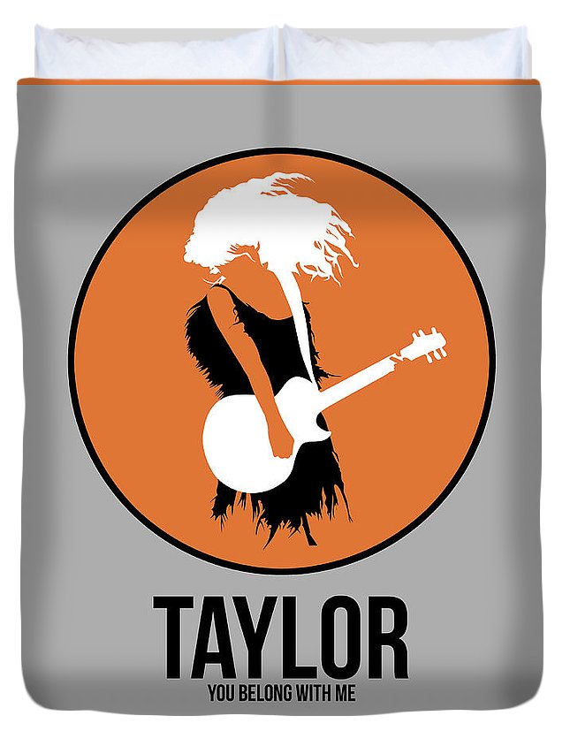 Duvet Cover featuring the digital art Taylor Swift by Naxart Studio