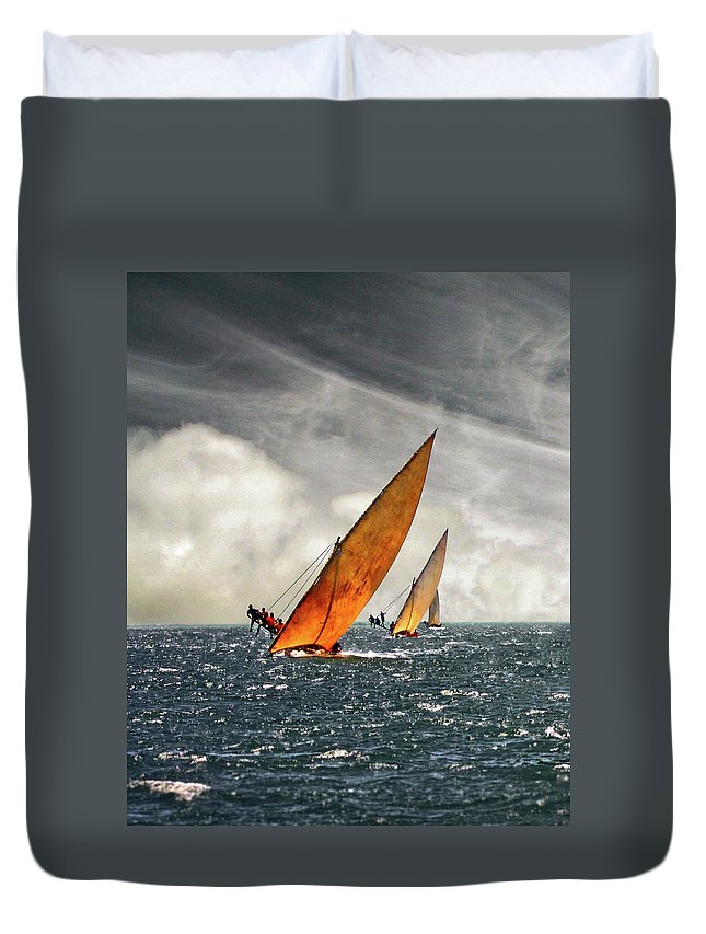 Kenya Duvet Cover featuring the photograph The Art Of Swahili Dhow Racing by David Schweitzer