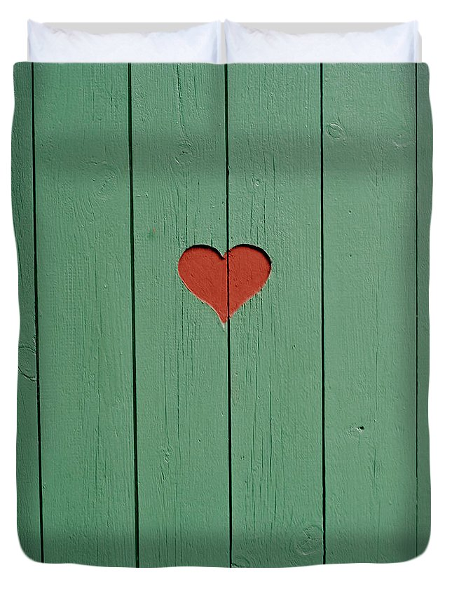 Outhouse Duvet Cover featuring the photograph The Door To A Outhouse by Fredrik Nyman