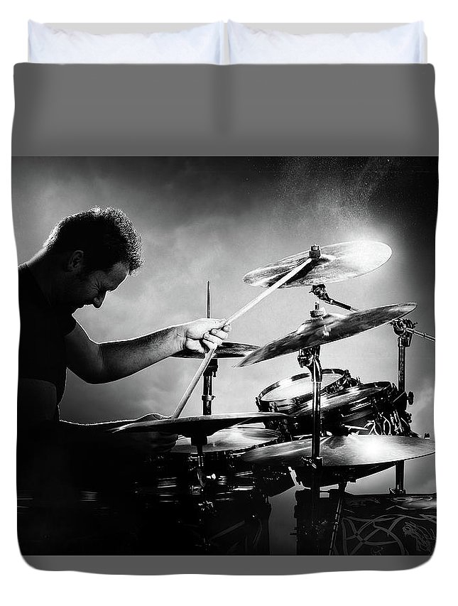 Rock And Roll Drummer Duvet Covers