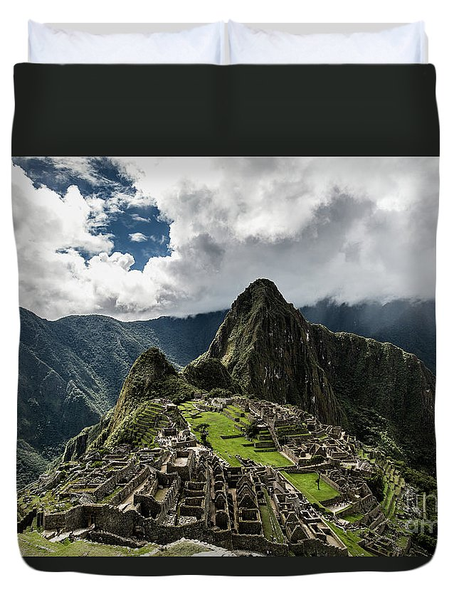 Scenics Duvet Cover featuring the photograph The Inca Trail, Machu Picchu, Peru by Kevin Huang