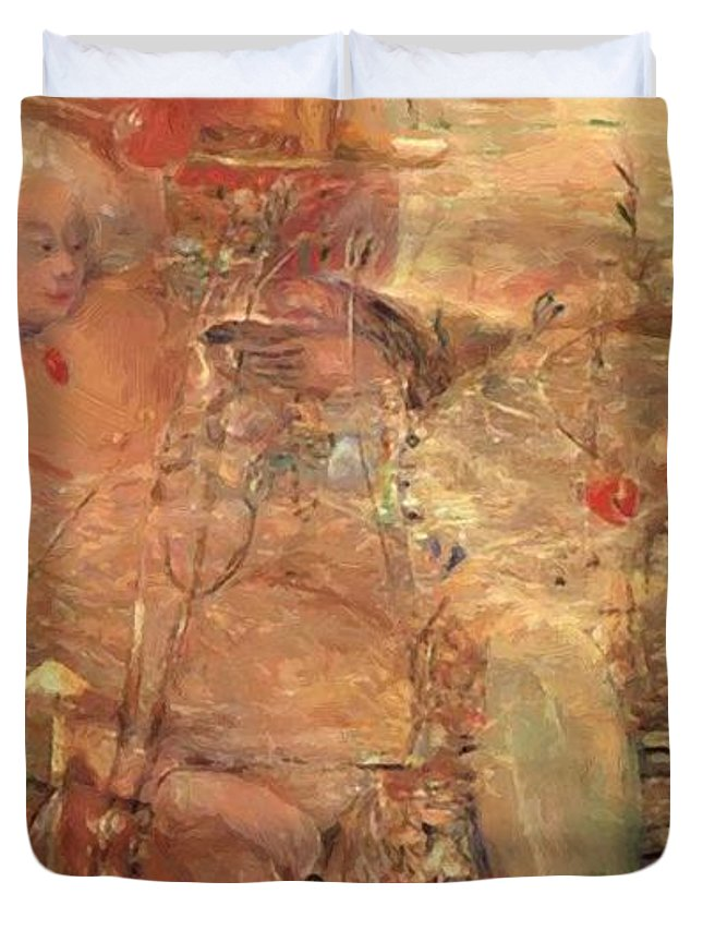 The Duvet Cover featuring the painting The Opium Smoker Dream 1918 by Gulacsy Lajos