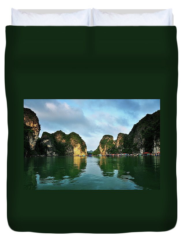 Scenics Duvet Cover featuring the photograph The Scenic Of Halong Bay by Photo By Sayid Budhi