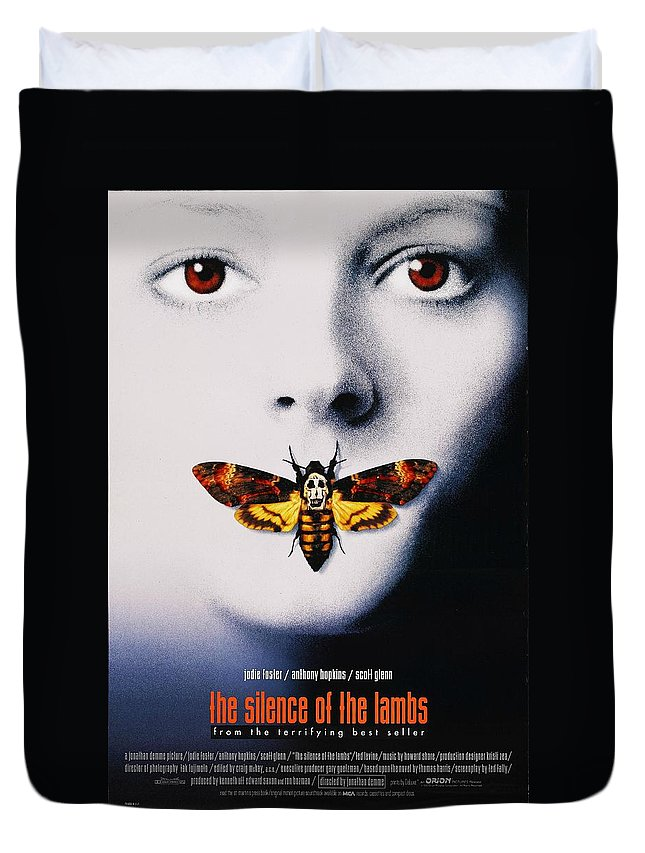 The Silence Of The Lambs 1991 Duvet Cover featuring the digital art The Silence Of The Lambs 1991 by Geek N Rock