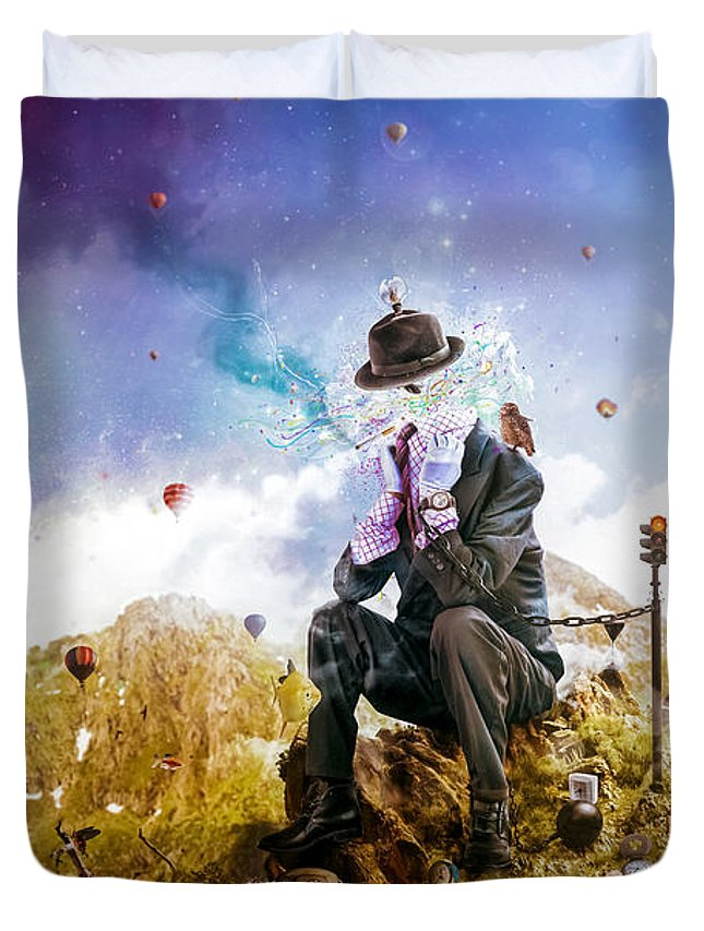 Surreal Duvet Cover featuring the digital art The Uninspired by Mario Sanchez Nevado
