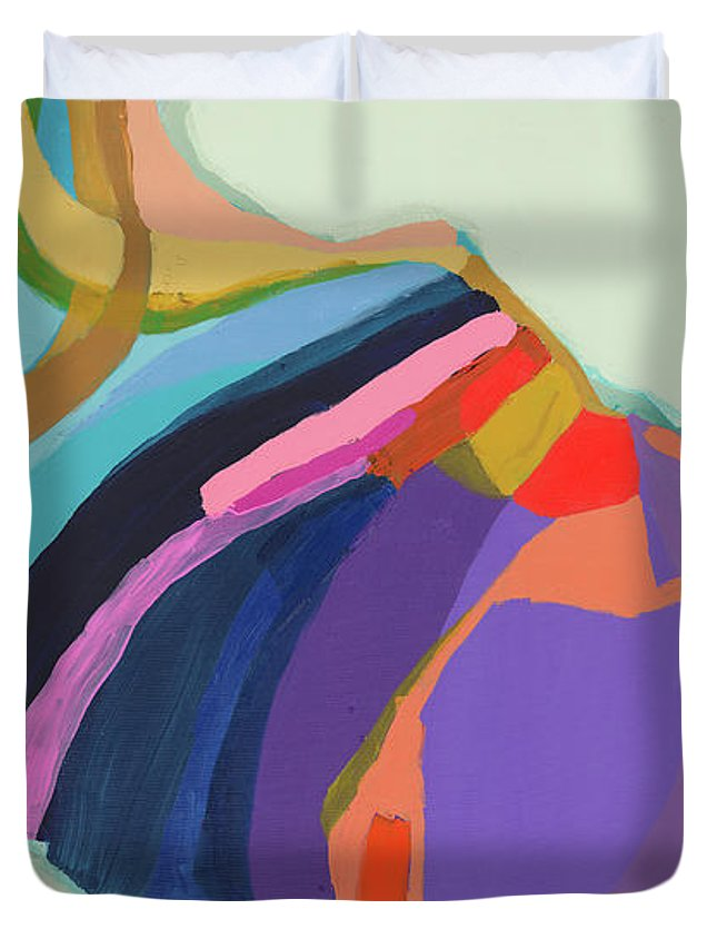 Abstract Duvet Cover featuring the photograph The Waiting Game by Claire Desjardins